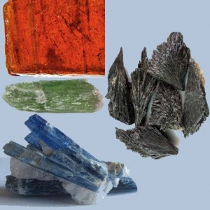 Orange, Black, Blue, and Green Kyanite